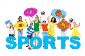 Cheerful Children and Women in a Photo with Concept of Sports