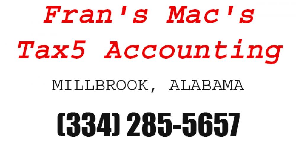 Fran S Mac S Tax Accounting Llc All Prattville Local