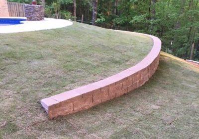Retaining wall landscaping prattville al