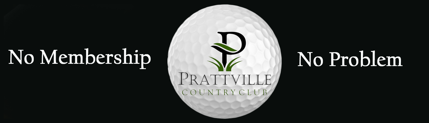 advertisement for no membership required at prattville country club