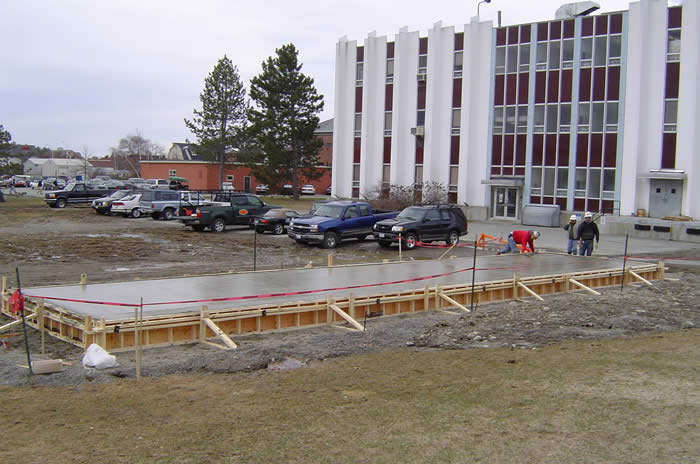 Educational | Concrete slab for chemical storage |University of Maine by Dunbar & Brawn Construction, Bangor, Maine.