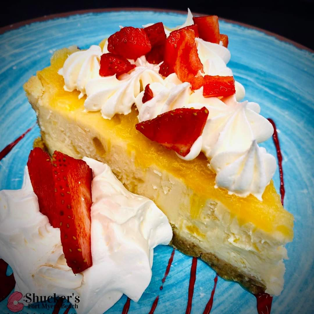 Shucker's Pina Colada Cheesecake