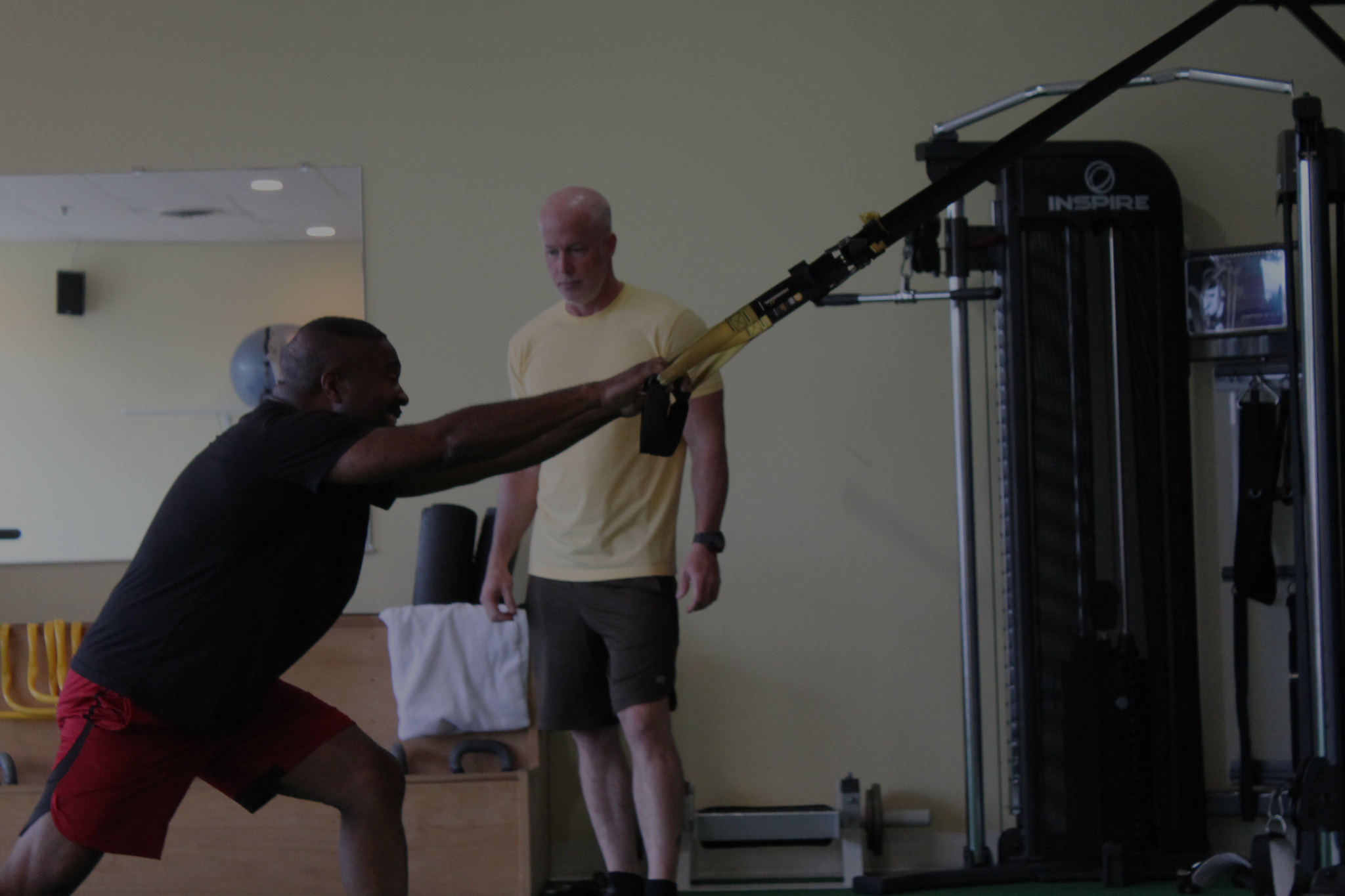 Image of Jeff Johns training one of his clients