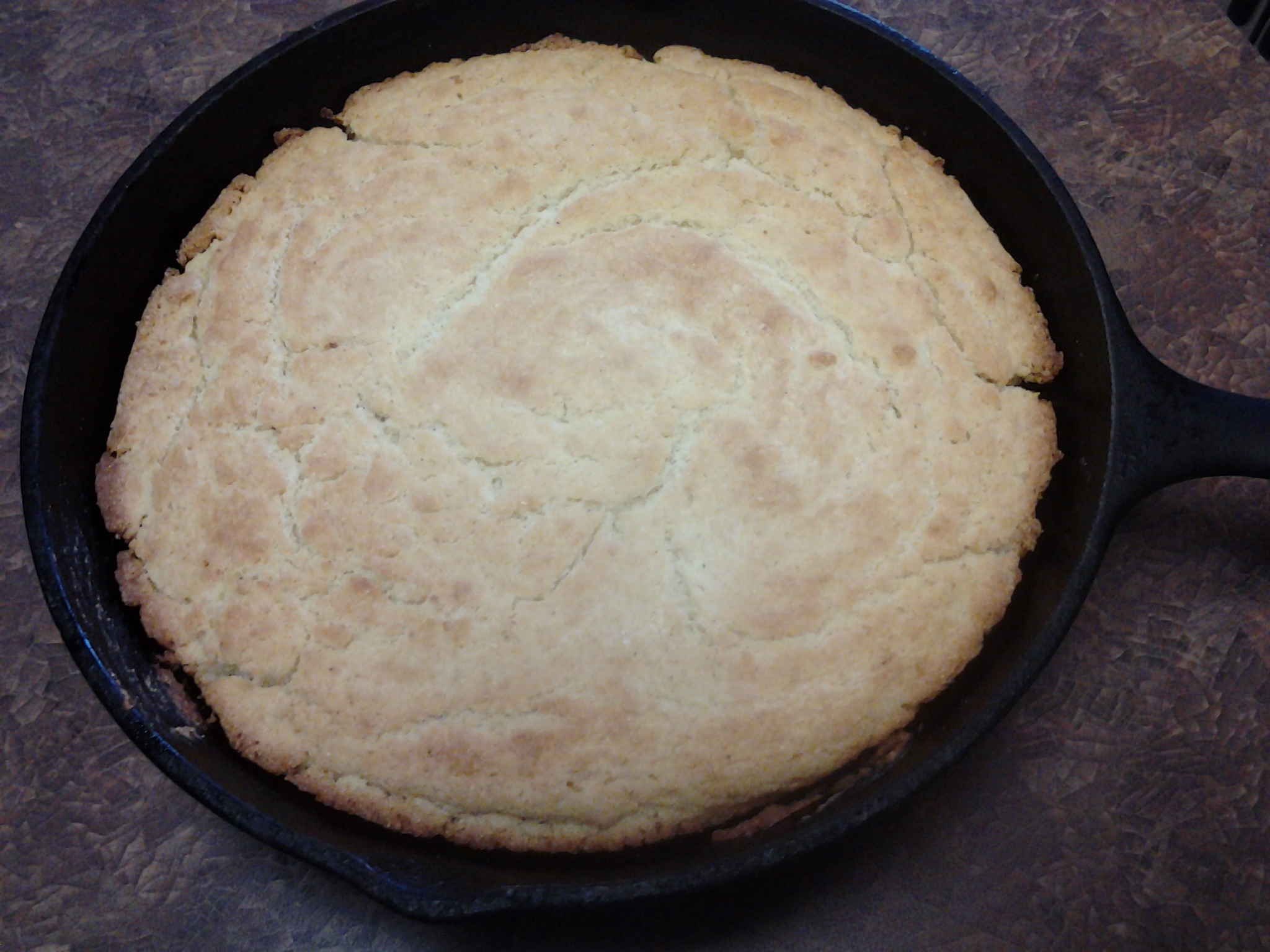 Cornbread - out of the oven