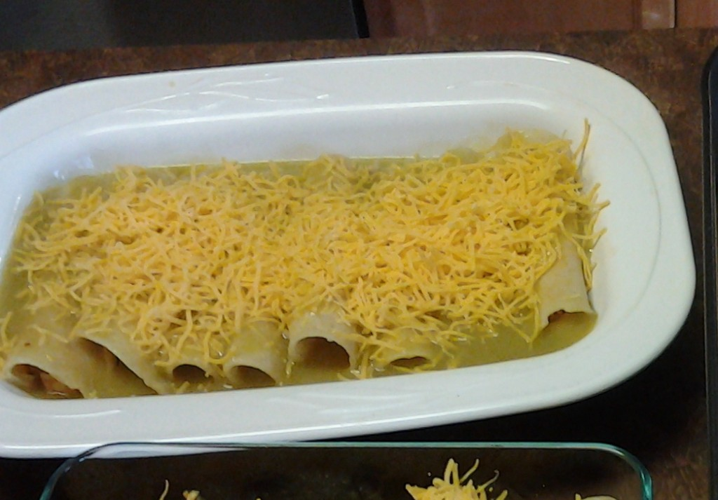 Chicken Enchiladas with Green sauce-ready for oven