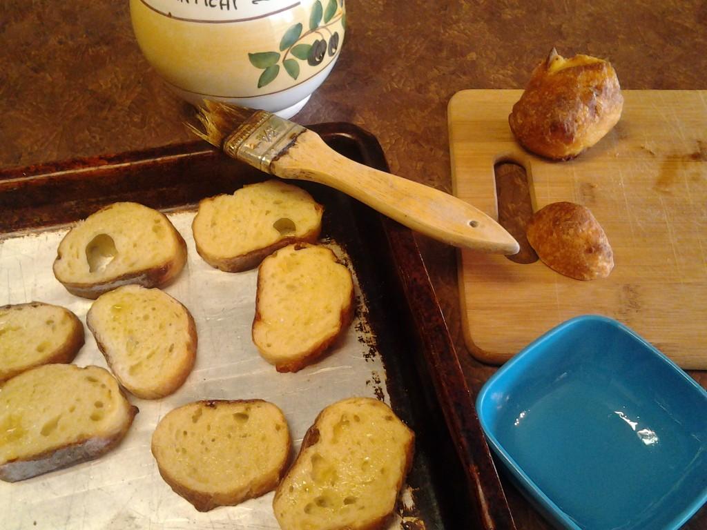 toasted bread for bruschetta