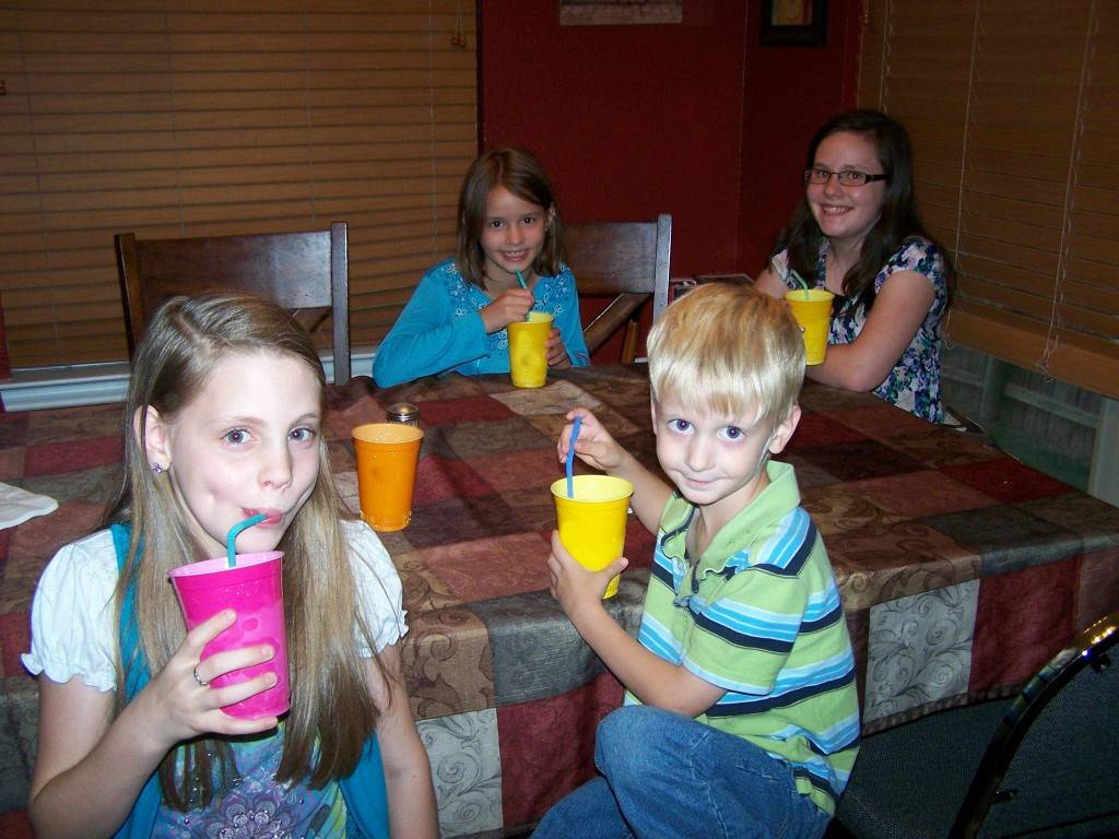 kids with italian sodas
