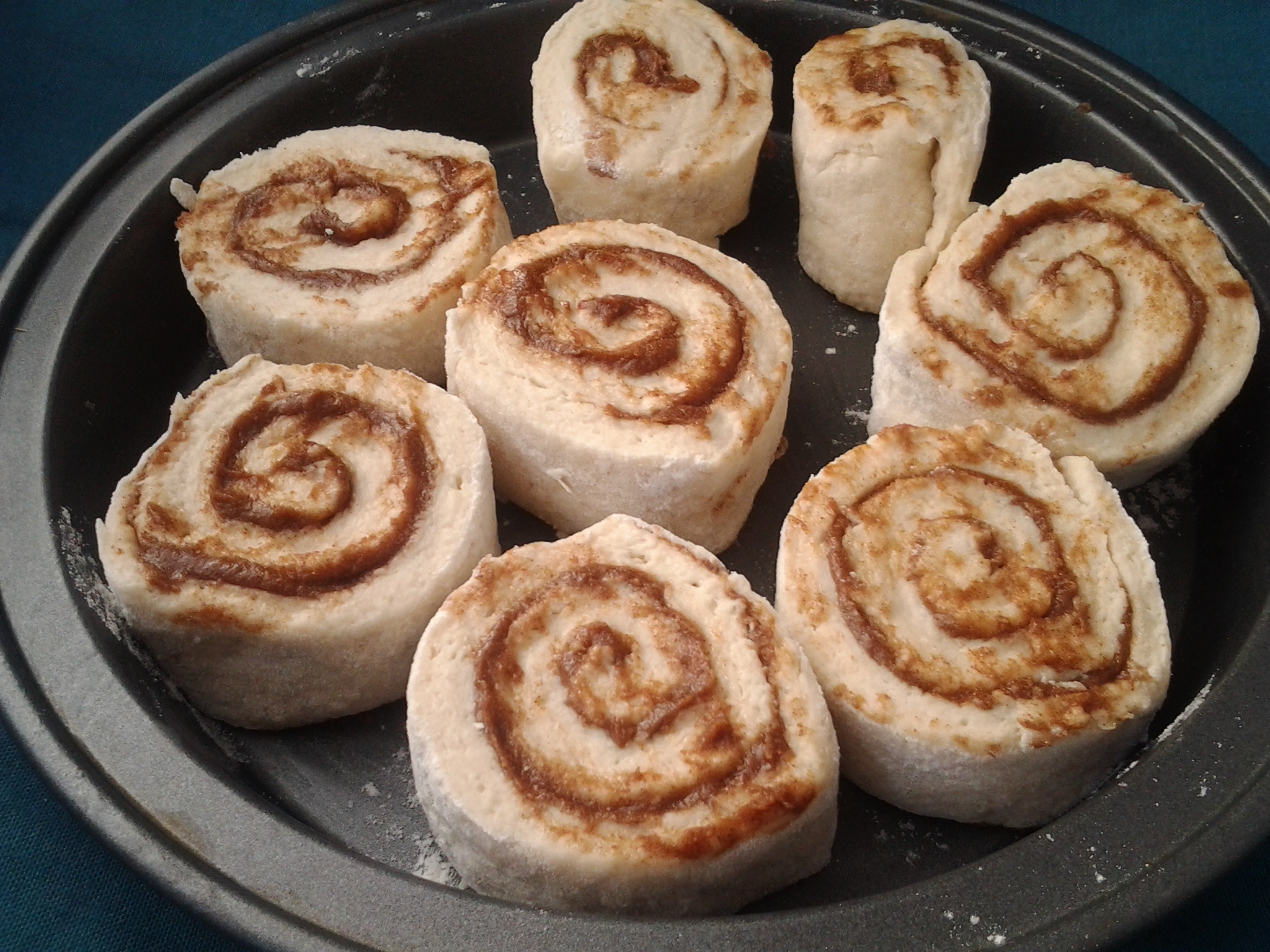 cinnamon roll ready to bake
