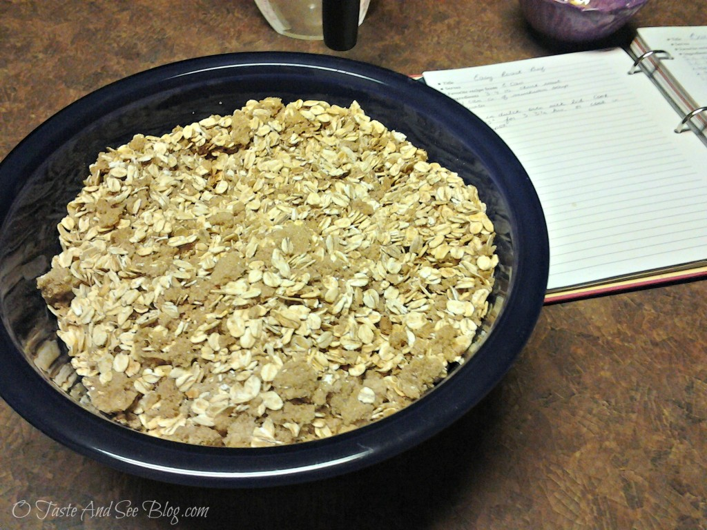 baked oatmeal dry ingredients