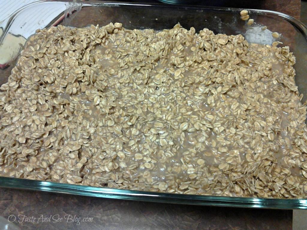 baked oatmeal ready to bake