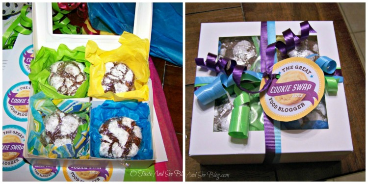 Cookie swap sent wrapping Collage