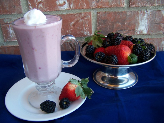 Strawberry Blackberry smoothie