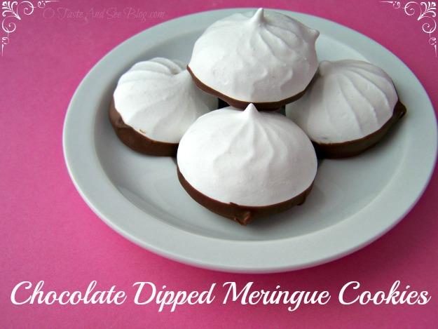 Chocolate Dipped Meringue Cookies