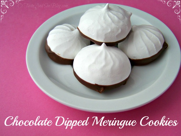 Chocolate Dipped Meringue Cookies