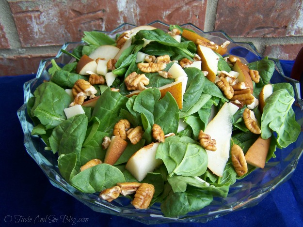 pear spinach salad 014a