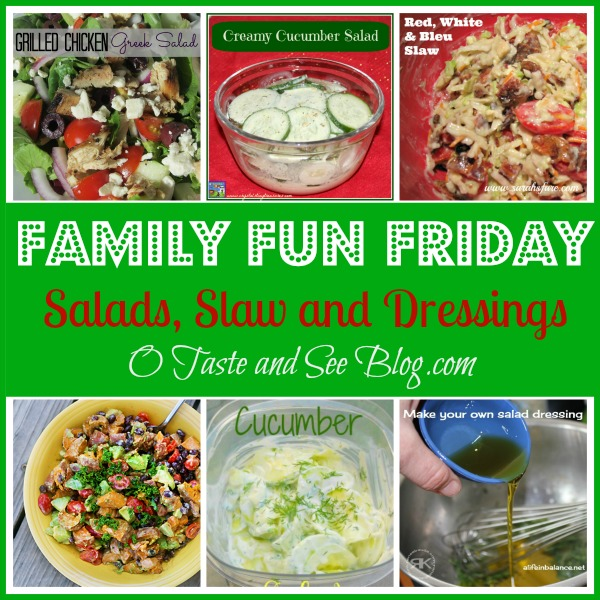 Salads slaw and dressings