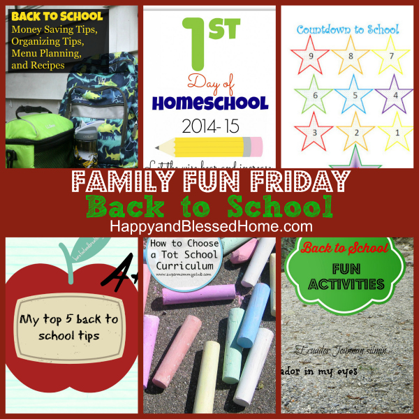 back to school family fun friday