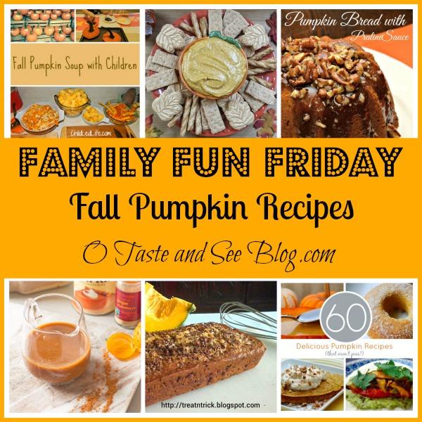 fall pumpkin recipes family fun friday