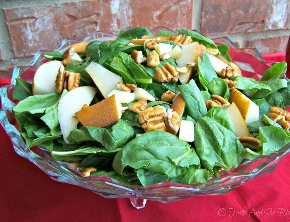 pear spinach salad 007a