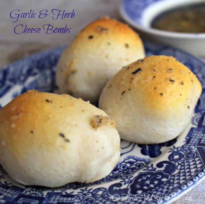 Garlic and herb Cheese bombs