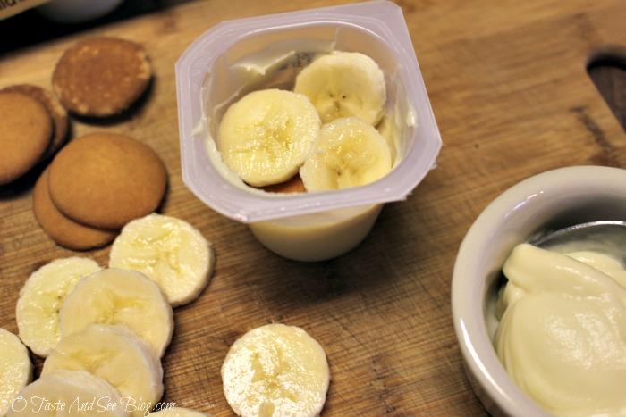 Individual Banana Pudding #SnackPackMixins