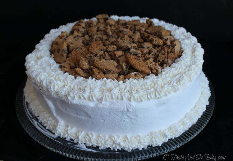 Chocolate Chip Cookie Dough Ice Cream Cake #IceCreamHero #ad