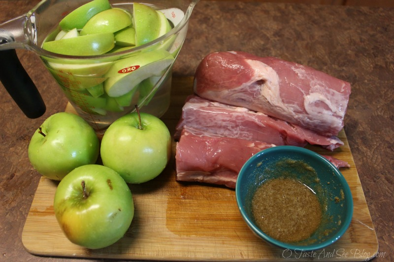 Baked Pork and Apples #ad #SmithfieldPork