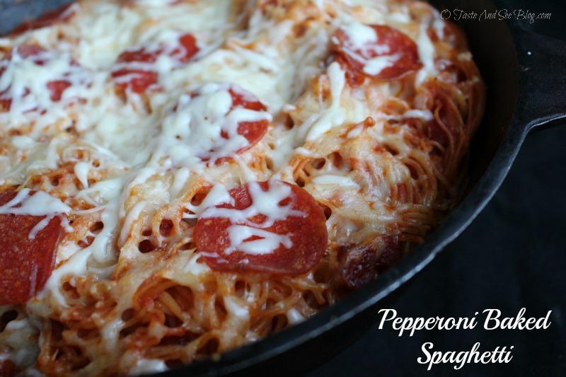 Pepperoni Baked Spaghetti ad