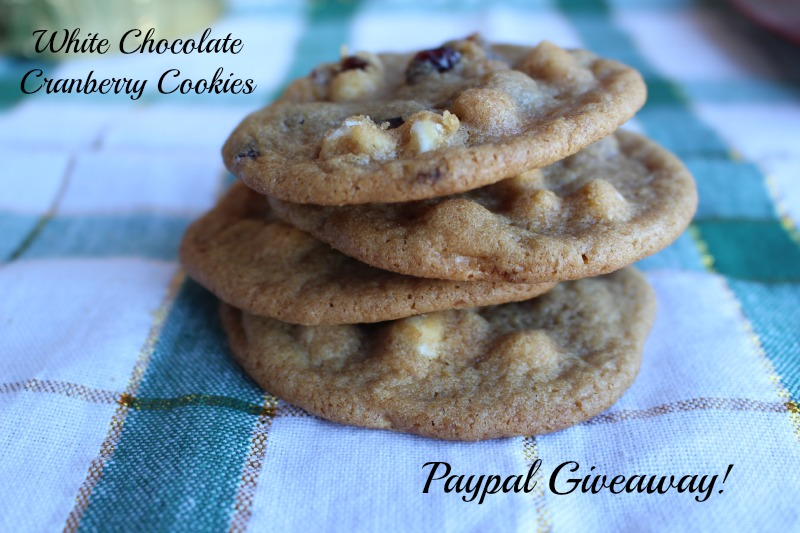 White Chocolate Cranberry Cookies #ad #HolidayRemix #BakeSomeonesDay