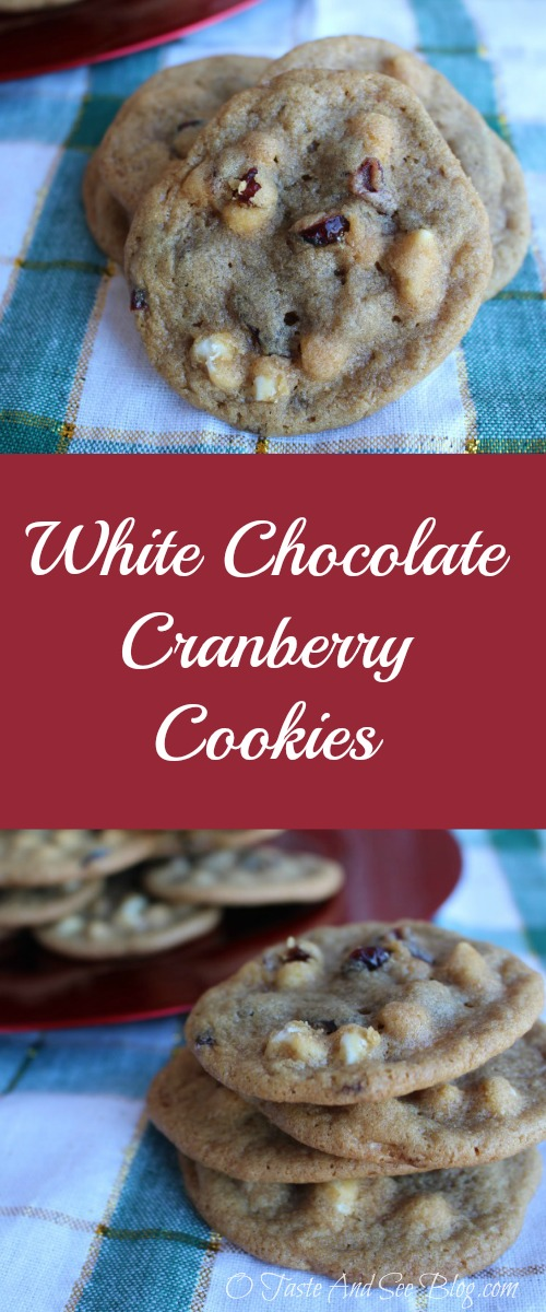 white chocolate cranberry cookies pinterest