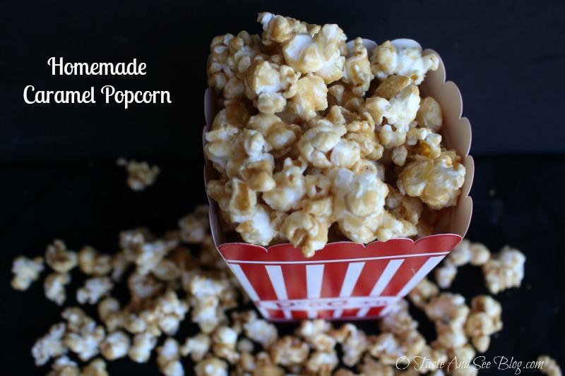 Homemade Caramel Popcorn
