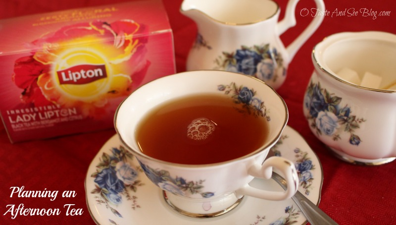 Planning an Afternoon Tea #LiptonTeaTime #sponsored
