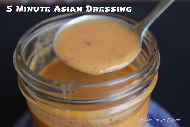 5 minute Asian Dressing #soyfoodsmonth #ad