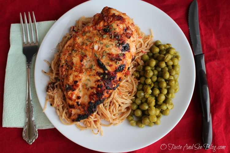 #MySignatureMoments #ad Sweet Red Pepper Chicken