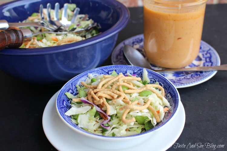 Asain Salad 5 Minute Blender Dressing #ad #soyfoodsmonth