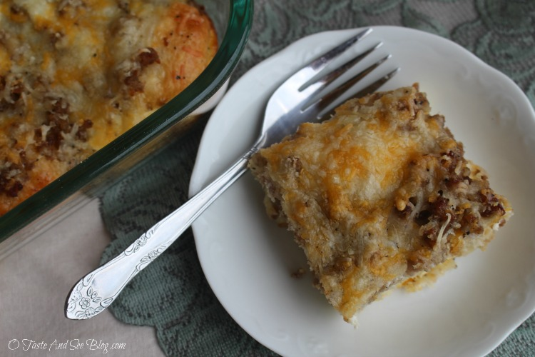 Sausage Egg and Biscuit Breakfast Casserole