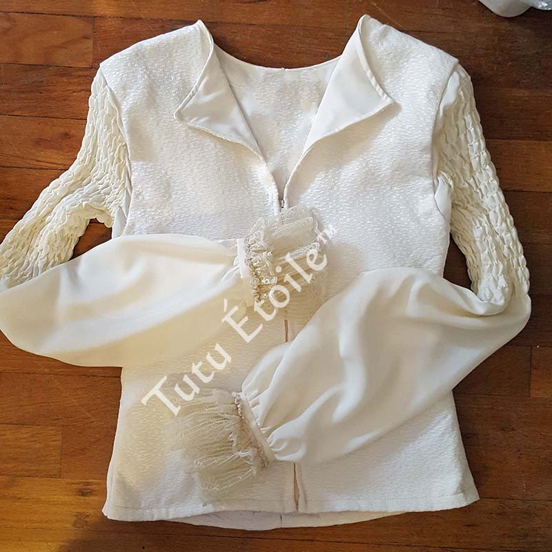 Ivory with Shirred Sleeves