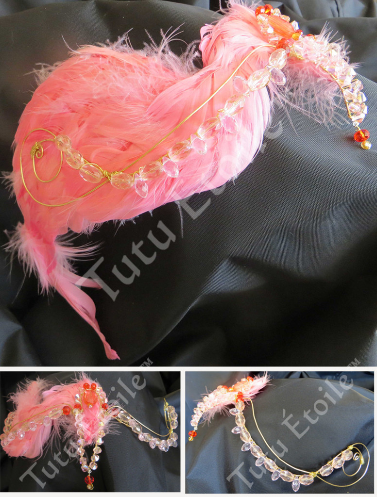 Flamingo headpiece