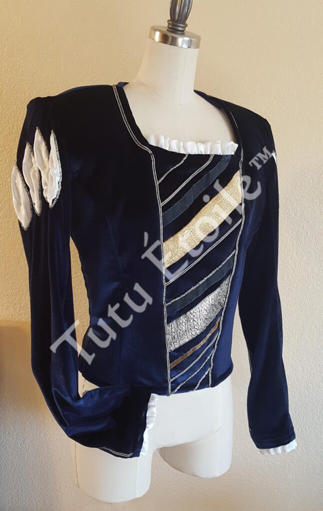 Royal Blue and Silver (front)
