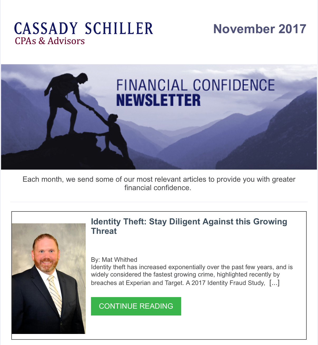 Financial Confidence Newsletter