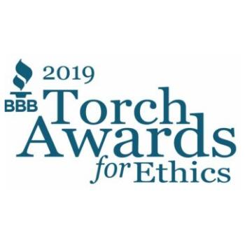 2019 logo for Better Business Bureau Torch Awards for Ethics