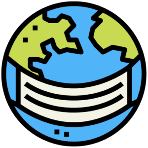 graphic of earth wearing a mask