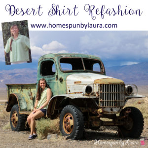 Desert Shirt Refashion: Lime Stripes | Homespun by Laura