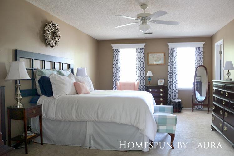 Master bedroom refresh | Homespun by Laura | New ceiling fan