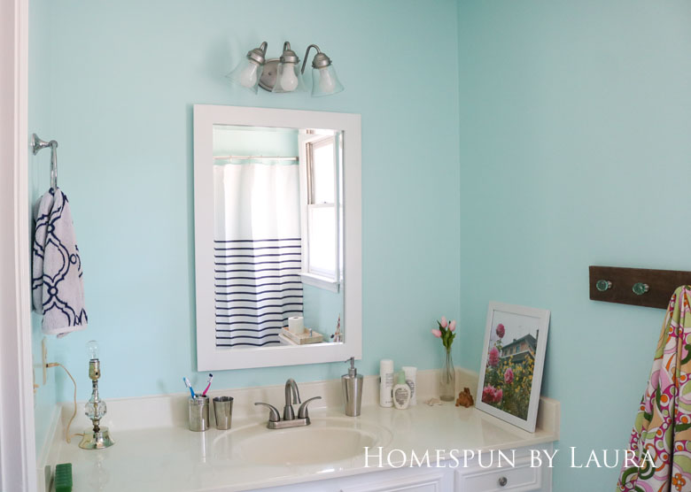 The $200 Master Bathroom Refresh | Homespun by Laura | The After: Art and decor