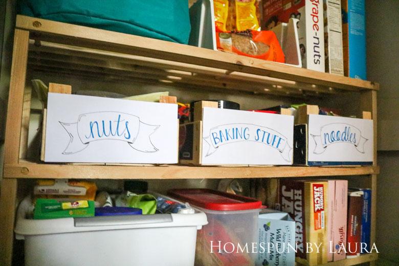 $75 DIY Powder Room (and Pantry!) Update: One Room Challenge Week 6 | Homespun by Laura | Organizing the Pantry