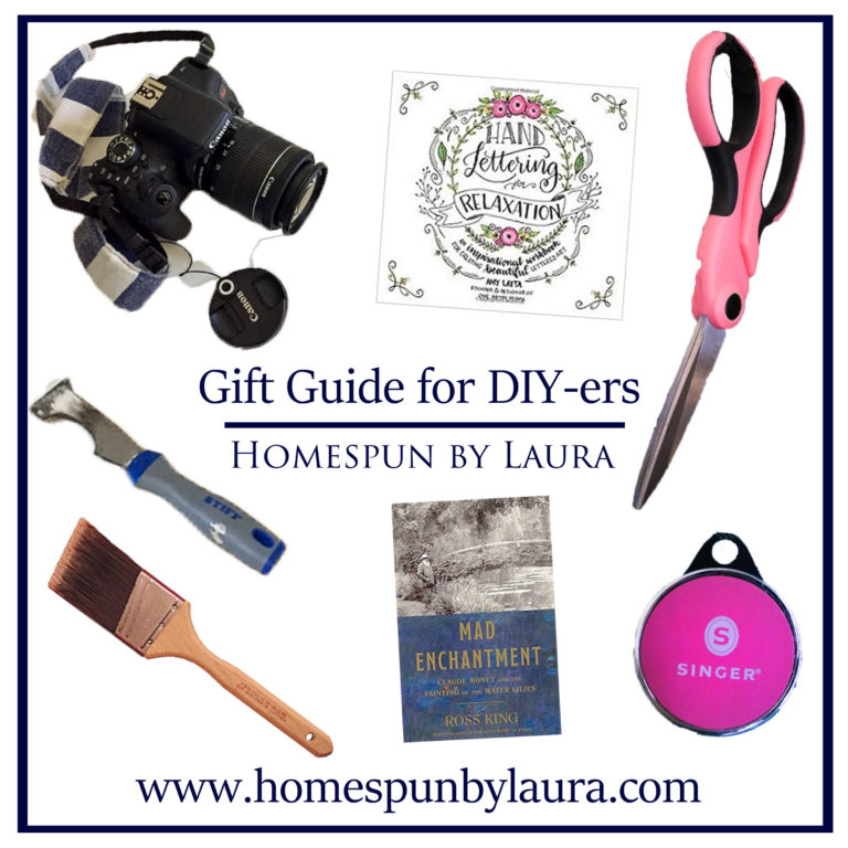 Gift guide for DIYers, artists, and makers | Find the perfect birthday, Christmas, or anniversary gift for the creative people in your life | Homespun by Laura