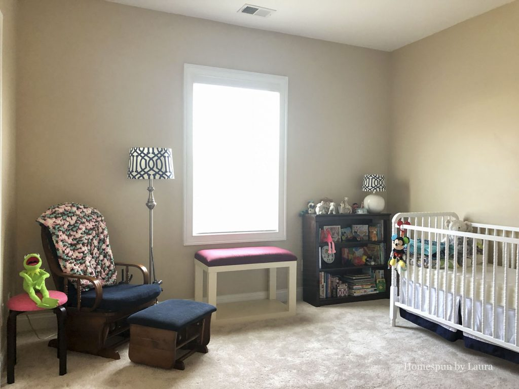 Vintage Toy Neutral nursery before - Fall 2018 One Room Challenge