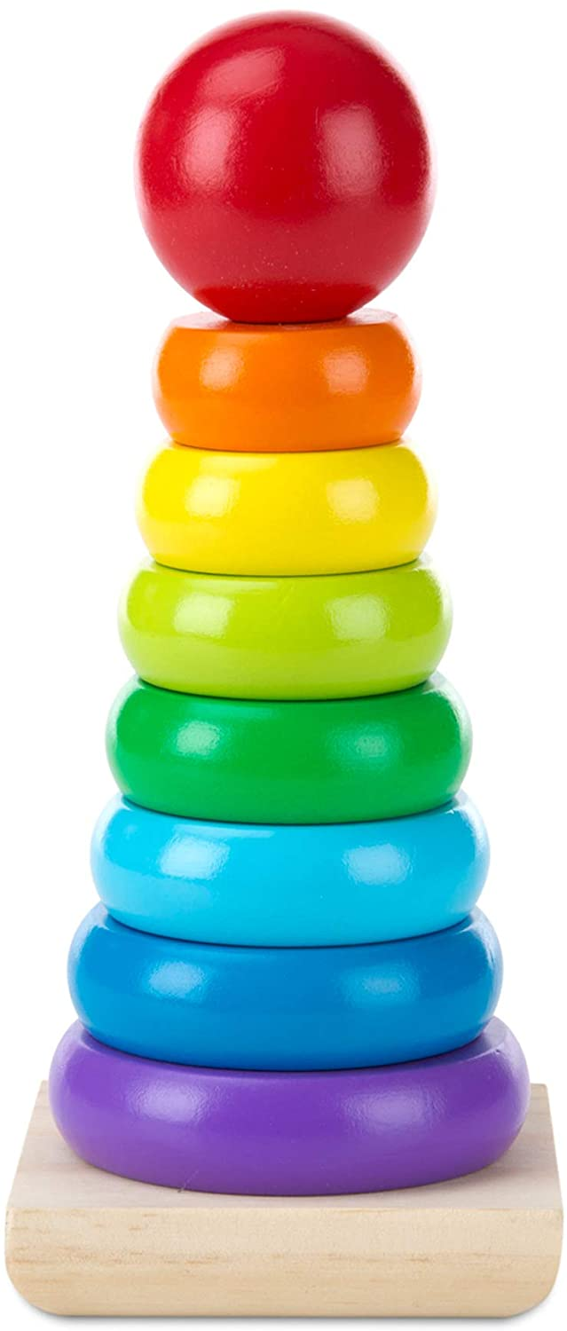 Melissa and Doug Rainbow Stacking Rings
