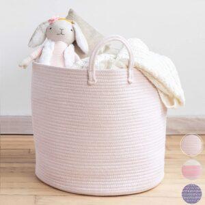 Pale Pink Rope Basket (similar)